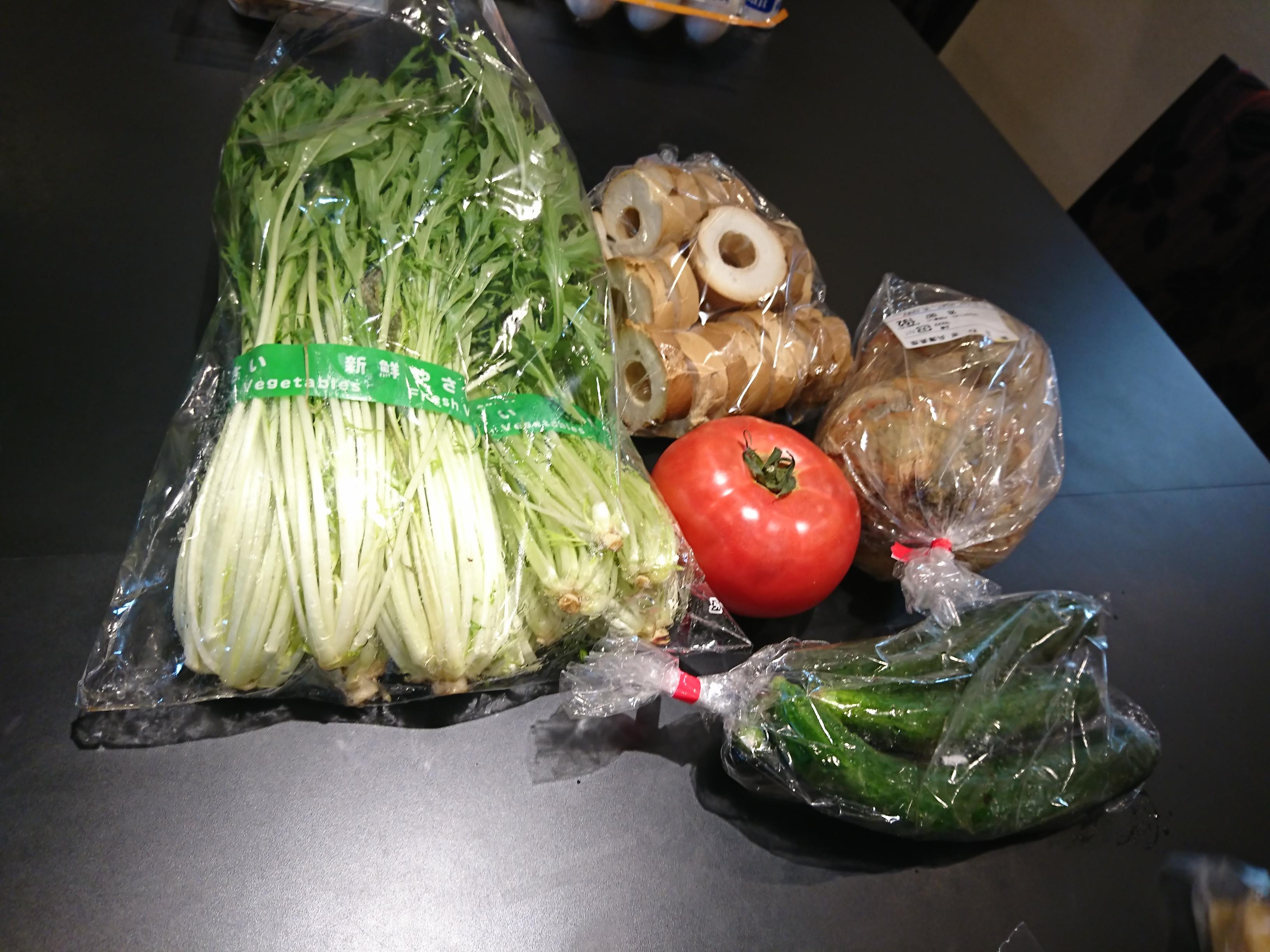 山中温泉で買ってきた野菜