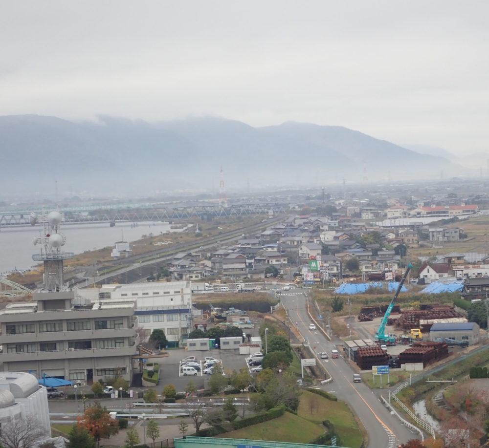 なばなの里のアイランド富士から見える景色