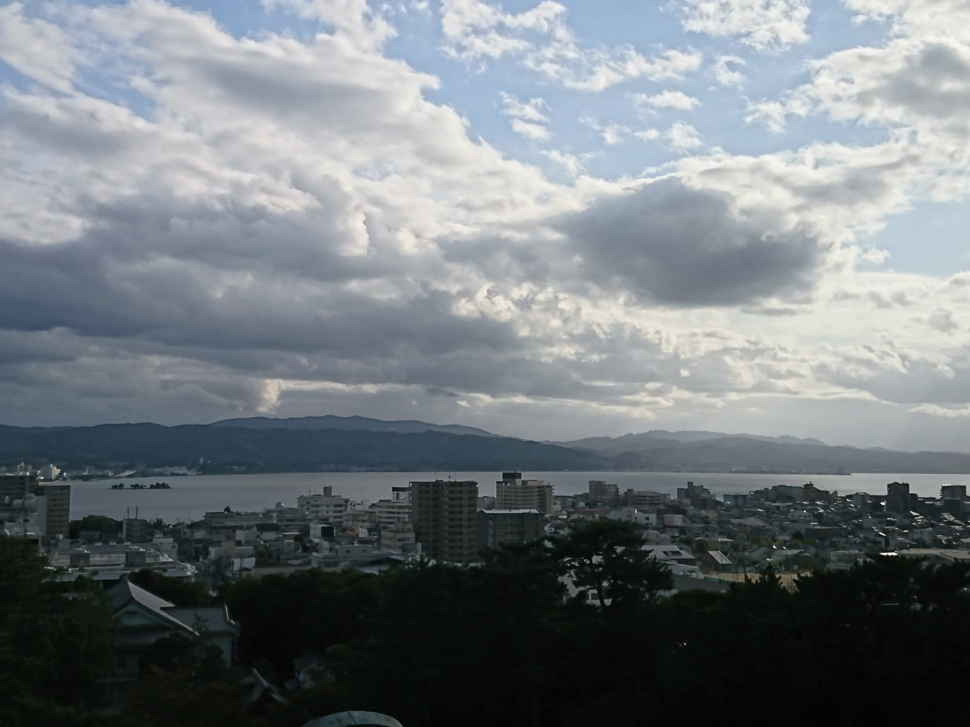 松江城から見える景色