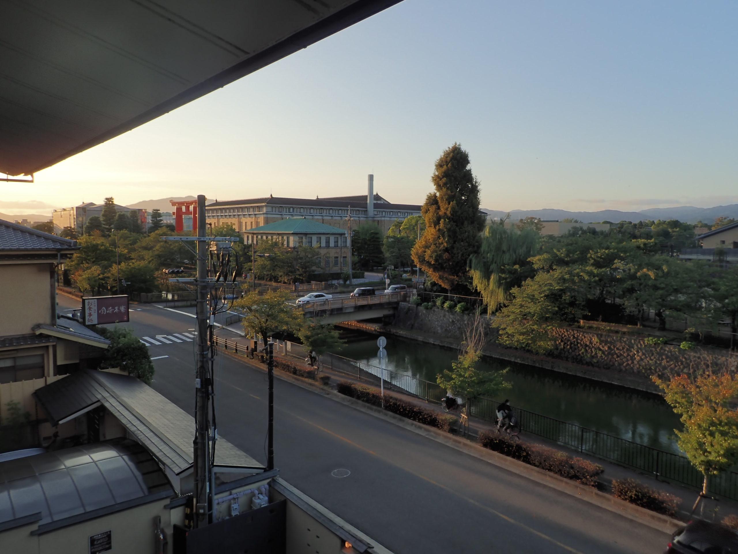 ポイントバケーション京都岡崎の客室から見える景色