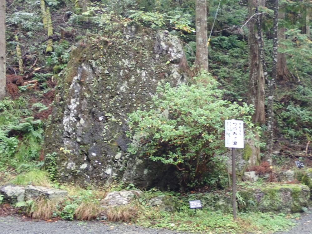 貴船神社の奥宮へと続く道のりにあるつつみが岩