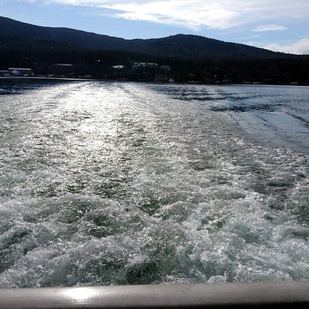山中湖の遊覧船
