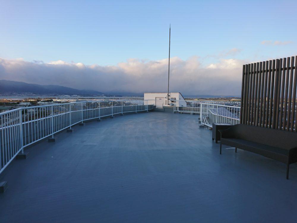 ポイントバケーション近江びわ湖の屋上テラス