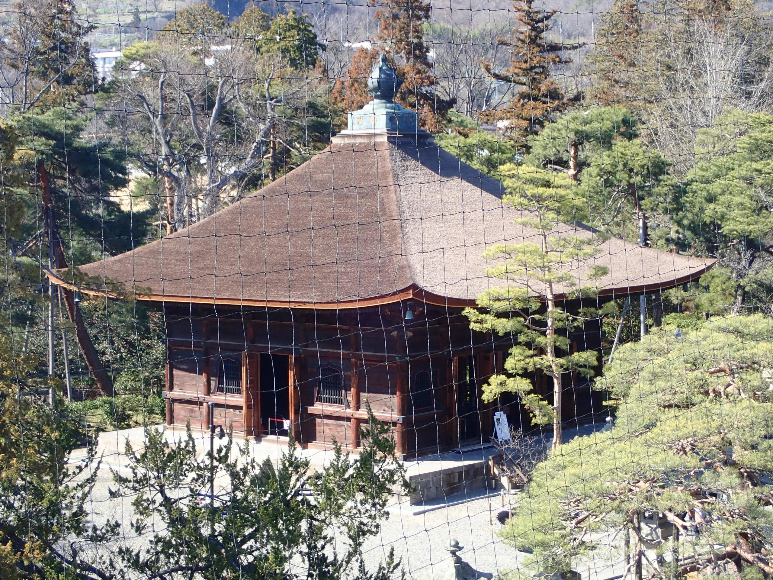 善光寺の山門からみる絶景