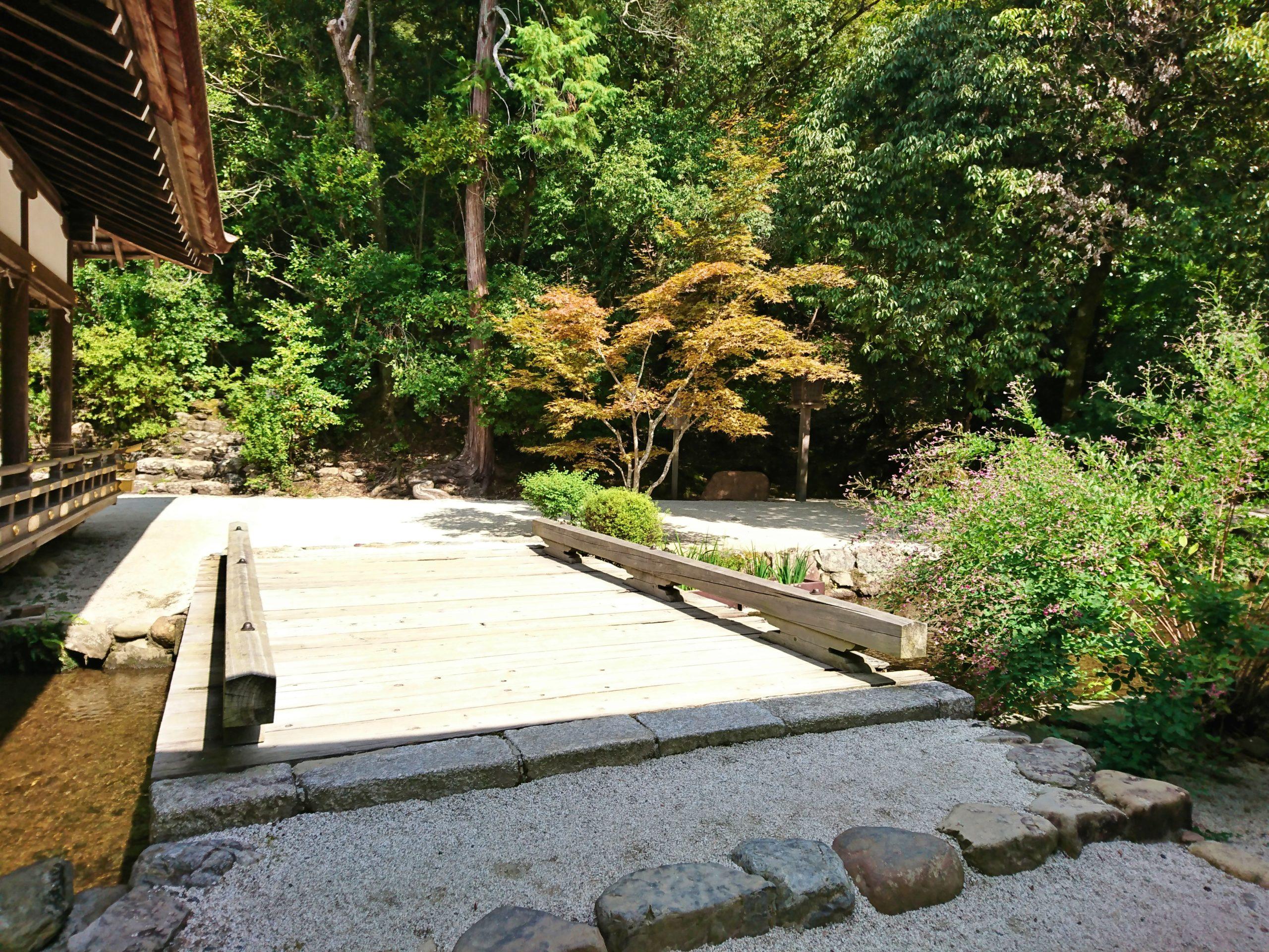 上賀茂神社の境内・橋殿の横にある橋