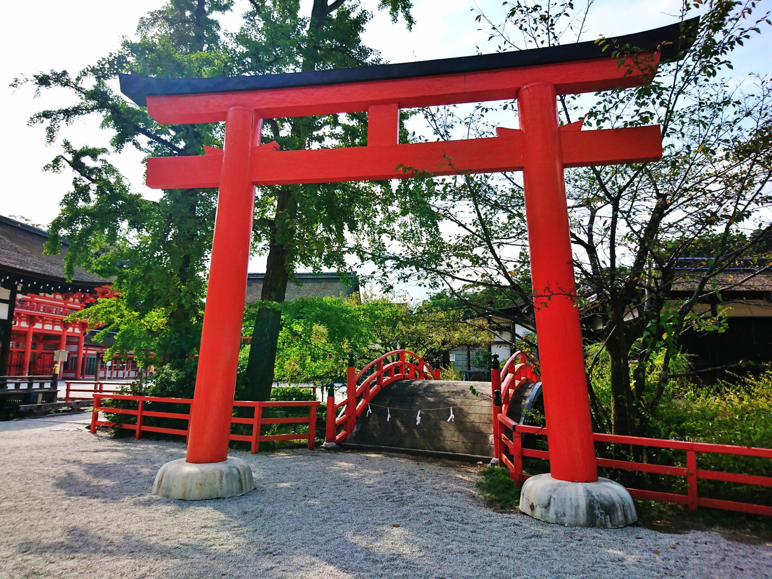 下鴨神社の鳥居と輪橋